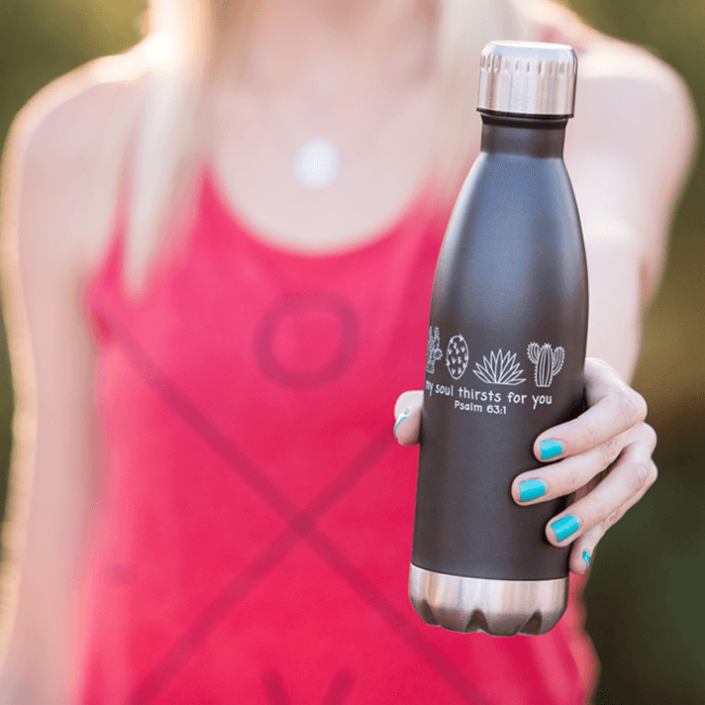 Love tank top with My Soul Thirsts for You water bottle