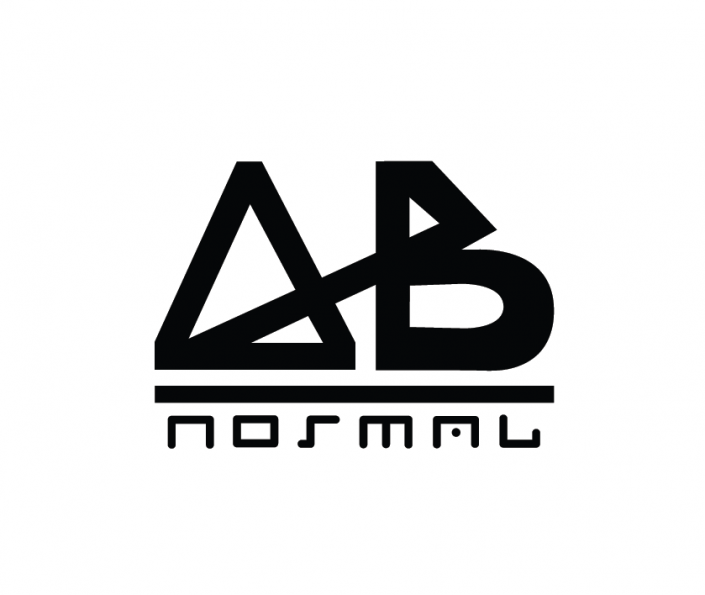 AB Normal logo in grayscale.