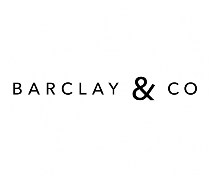 Barclay & Co logo in grayscale.